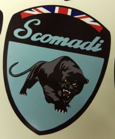 Scomadi Logo Badge Printed Decal Sticker Custom OCEAN BLUE FP TL 50 125 200